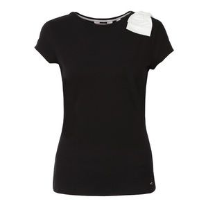 Ted Baker Bow Trim Embellished Shoulder Party Tee